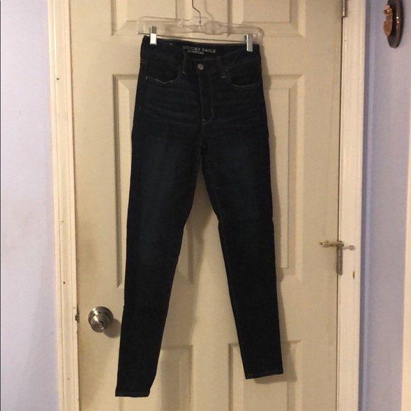 American Eagle Outfitters Denim - Dark Wash High Rise Jegging